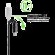 Belkin kabel Premium Kevlar USB-C to USB-C,1,2m, stříbrný