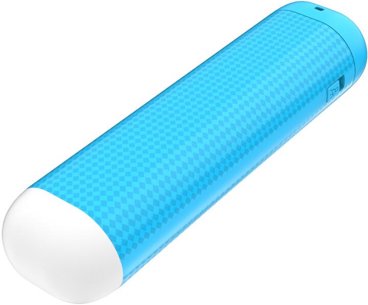 GoGEN PowerBank 2500 mAh, svítilna modrá