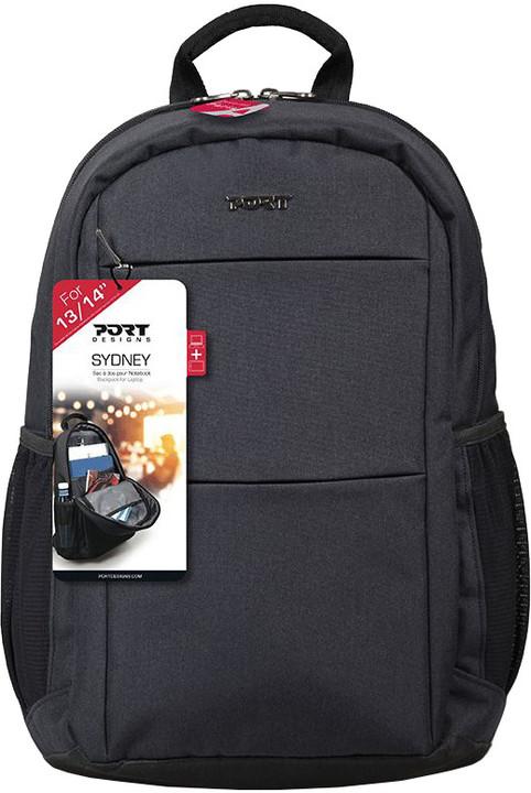 Port Designs SYDNEY batoh na 13/14'' notebook a 10,1'' tablet, černá