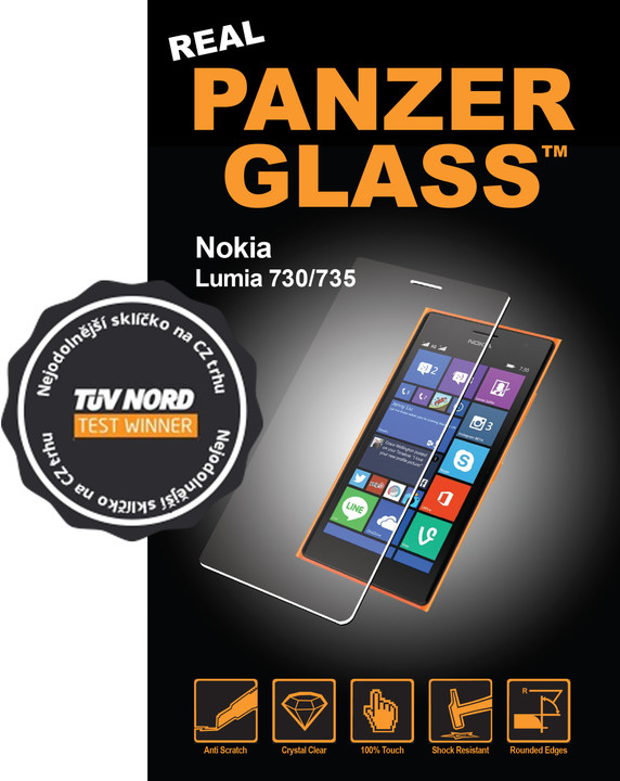 PanzerGlass ochranné sklo na displej pro Nokia Lumia 730/735
