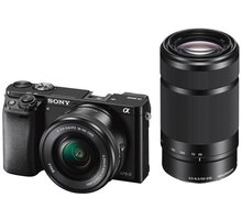 Sony Alpha 6000, 16-50mm + 55-210mm, černá - ILCE6000YB.CEC