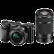 Sony Alpha 6000, 16-50mm + 55-210mm, černá