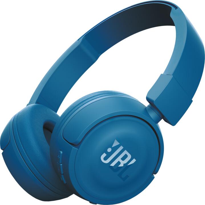 JBL T450BT, modrá