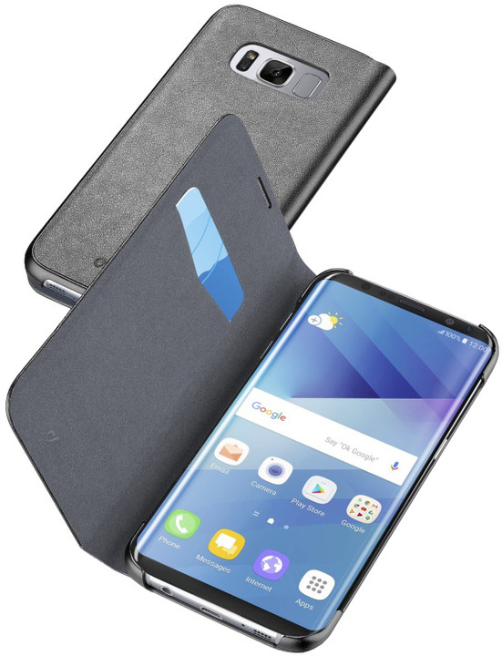 CellularLine Book Essential pouzdro typu kniha pro Samsung Galaxy S8, černé