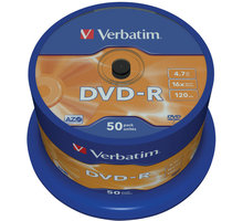 Verbatim DVD-R AZO 16x 4,7GB spindl 50ks - 43548