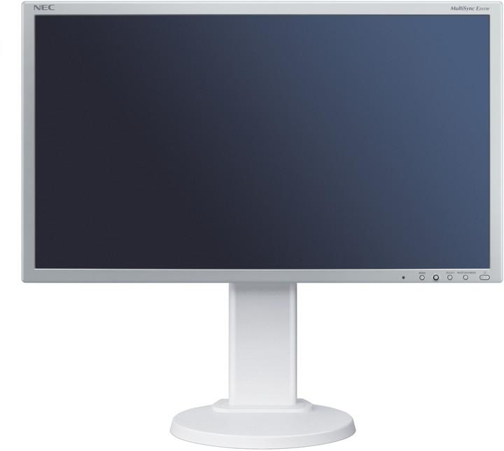 """NEC MultiSync E201W, bílo-stříbrný - LED monitor 20"""""""