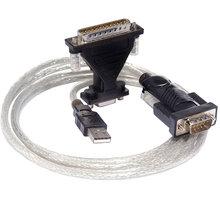 PremiumCord převodník USB2.0 na RS232 s kabelem - 8592220001698