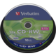 Verbatim CDRW 12x 80min/700MB, 10ks, spindle
