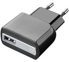 CellularLine nabíječka s USB výstupem, 2A/10W, černá - ACHUSBMOBILE2AK