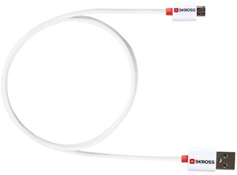 Skross USB Charge'n Sync , délka 1m, micro USB konektor, pro nabíjení a přenos dat