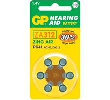 GP, ZA312, baterie do naslouchadel, 6ks - 1044031216