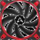 Arctic BioniX F120, eSport fan, červená - 120mm