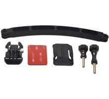 Apei Outdoor Helm Aluminum Arm with mounts & screws (black) for GoPro 4/3+/3/2/1 - OD155b