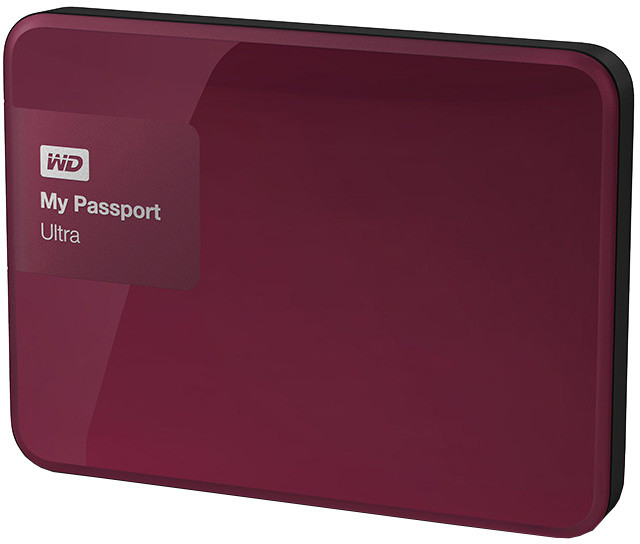 WD My Passport ULTRA - 500GB, berry