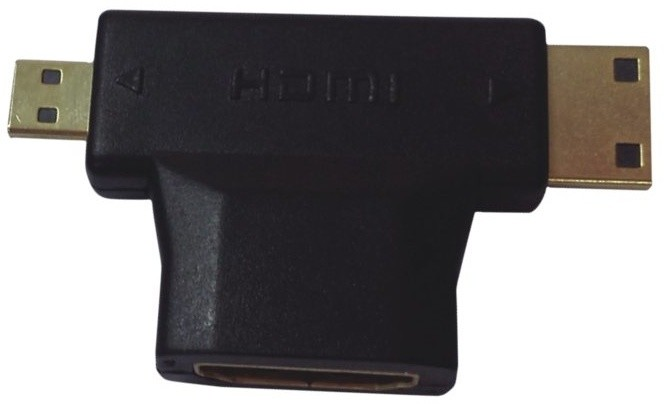 PremiumCord adaptér HDMI na mini HDMI typ C a micro HDMI typ D
