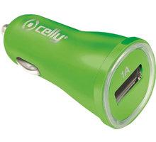 CELLY autonabíječka s USB výstupem, 1A, zelená, blister - CCUSBGN