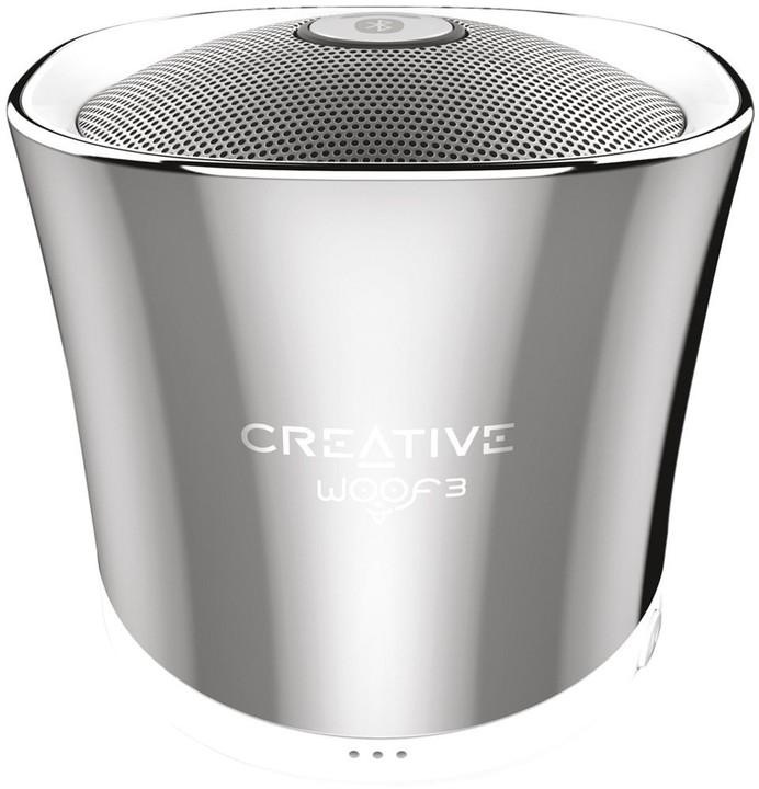 Creative WOOF3, přenosný, stříbrná