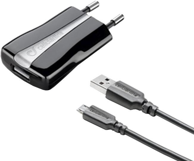 CellularLine nabíječka a datový kabel s konektorem microUSB