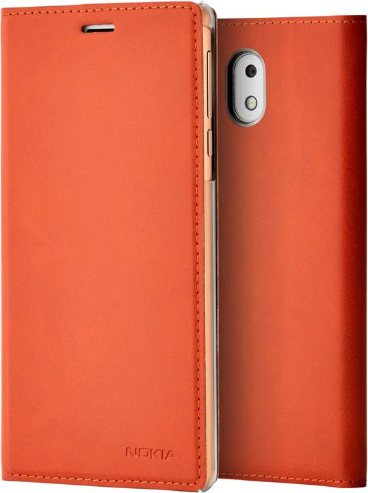 Nokia Slim Flip Case CP-303 for Nokia 3, hnědá