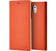Nokia Slim Flip Case CP-303 for Nokia 3, hnědá - CP-303 brown