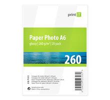 PRINT IT Paper Photo A6 260 g/m2 Glossy 20ks - PI-90