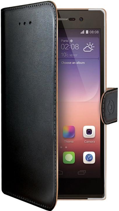 CELLY Wally pouzdro pro Huawei P8, PU kůže, černá