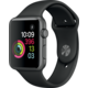 Apple Watch 42mm Space Grey Aluminium Case with Black Sport Band