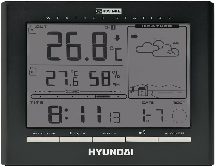 Hyundai WSC 2180 B, černá