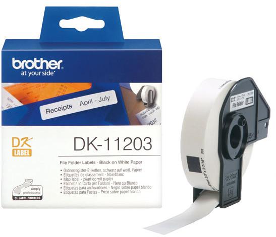 Brother - DK11203 (papírové/databáze-300ks) 17x87mm