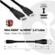 Club3D Mini HDMI na HDMI 2.0, podpora 4k/60Hz, obousměrný, 1m