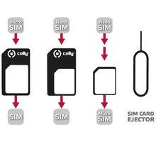 CELLY adaptér SIM karet z nanoSIM na microSIM a miniSIM karty - SIMKITAD