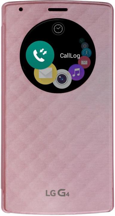 LG QuickCircle pouzdro CFR-100 pro LG G4, růžová
