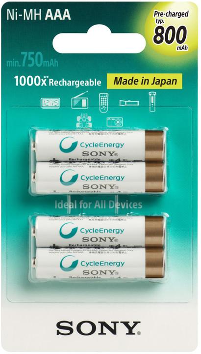 Sony NiMH nabíjecí baterie AAA / 800 mAh / 4 ks v blistru