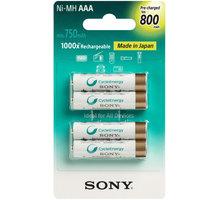 Sony NiMH nabíjecí baterie AAA / 800 mAh / 4 ks v blistru - NH-AAAB4KN