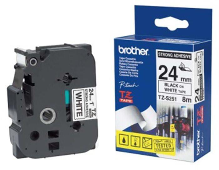 Brother TZE-S261, bílá / černá, 36mm