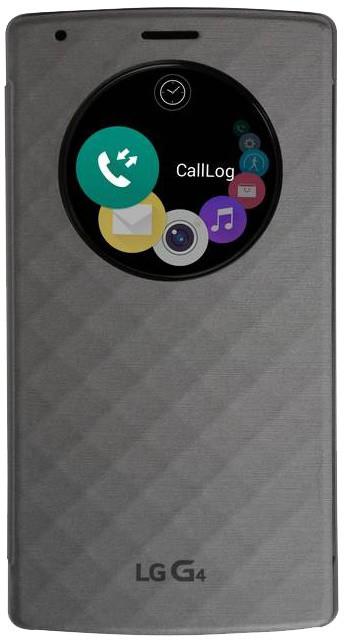 LG flipové pouzdro QuickCircle CVF-100 pro LG H815 G4, stříbrná
