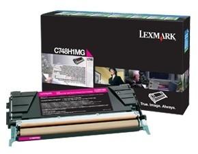 Lexmark C748H1MG, magenta, return