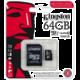 Kingston Industrial Micro SDXC 64GB Class 10 UHS-I + SD adaptér