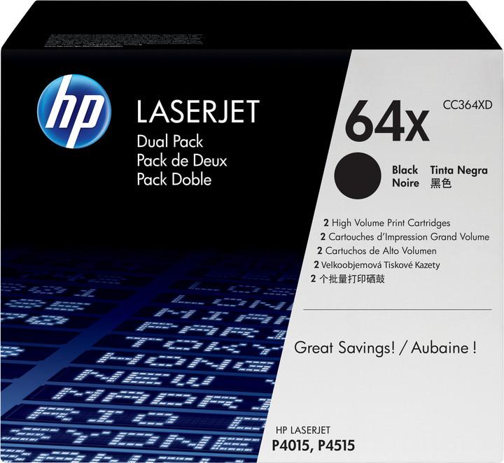 HP CC364XD, černá, dual pack