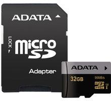 ADATA Micro SDHC Premier Pro 32GB UHS-I U3 + adaptér - AUSDH32GUI3CL10-RA1