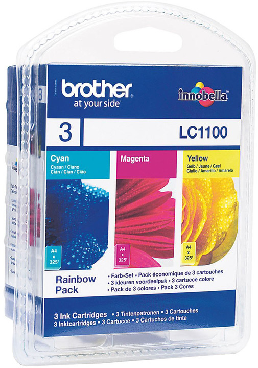 Brother LC-1100 RBWBP, multipack C+M+Y