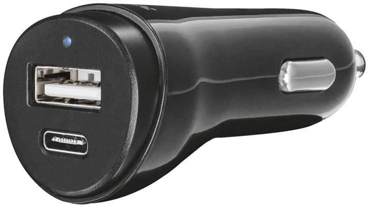 Trust nabíjecí autoadaptér USB, USB-C.