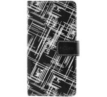 FIXED Opus pouzdro typu kniha pro Samsung Galaxy J1 (2016), motiv White Stripes - FIXOP-107-WS