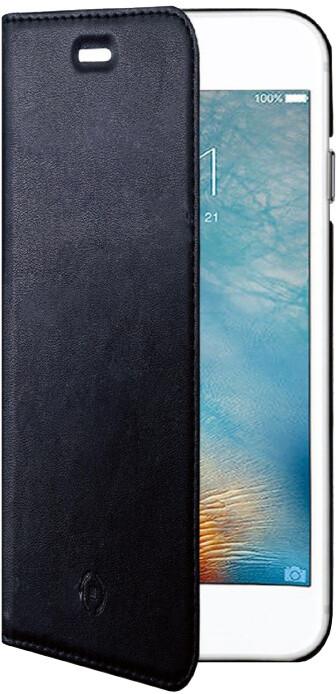 CELLY Air ultra tenké pouzdro typu kniha pro Apple iPhone 7, PU kůže, černé