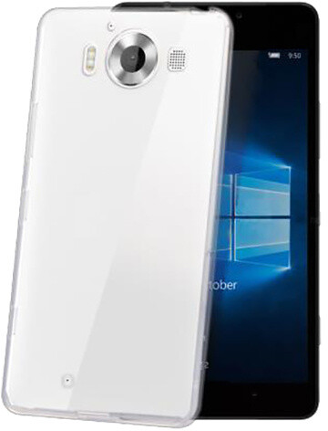 CELLY pouzdro Gelskin pro Microsoft Lumia 950, bezbarvé