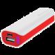 GoGEN powerbank 2600 mAh, bílo-červená