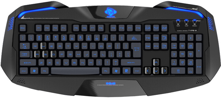 E-Blue Auroza, černá, US + CZ/SK přelepky