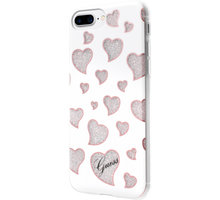 Guess Hearts TPU Pouzdro White pro iPhone 7 Plus - GUHCP7LGLHWH