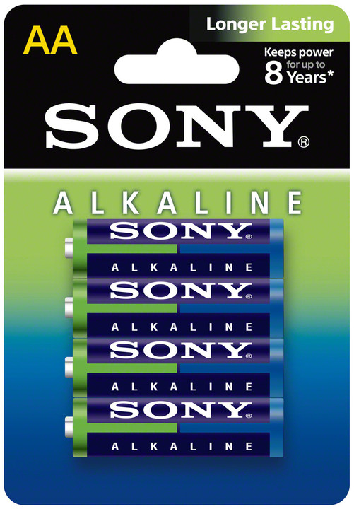 Sony Alkalická baterie LR6 AA 1,5V x4 ECOPACK
