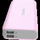 ROMOSS sense 4 LED, 10000mAh, růžová